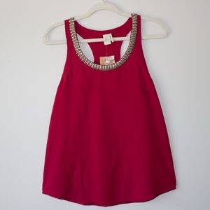 Red Beaded Tank top
